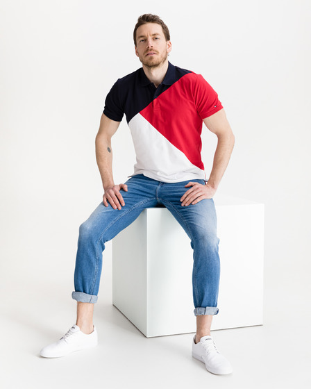 Tommy Hilfiger Diagonal Colorblock Polo Shirt