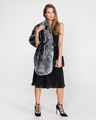 French Connection Fax-fur shoulder cape